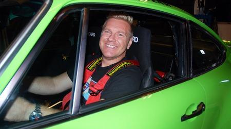 Lasse Hansen (39) besluttet å bygde sin egen IROC-Porsche.  (Foto: Benny Christensen)