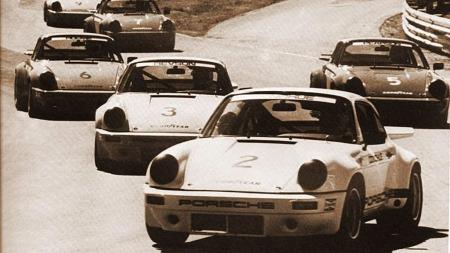 Race! Fra 1974-serien som ble vunnet av Mark Donohue. Dette var eneste året Porsche ble benyttet.  (Foto: Porsche)