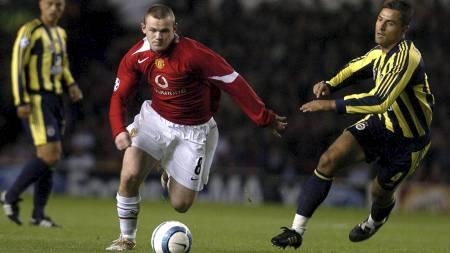 SCORET HATTRICK: Wayne Rooney scoret hattrick i debuten sin for Manchester United. (Foto: PAUL BARKER/AFP)