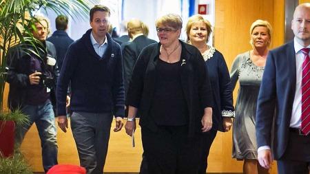 BLIR DE ENIGE? Regjeringsforhandlingene   mellom KrF, Venstre, Høyre og Frp er lørdag inne i den sjette dagen.