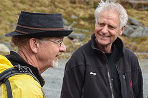 Dave Mc Clung og Karstein Lied startet opp skredforskningen i Norge for 40 år siden. (Foto: Ronald Toppe)