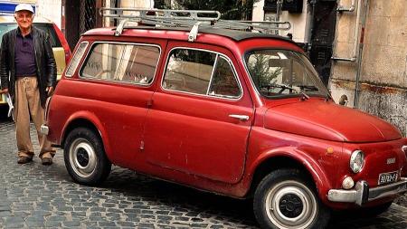 Stasjonsvogna til Fiat 500 er en klassiker. Luigi har grunn til å være stolt av sitt eksemplar. (Foto: Terje Andresen sa.no / ANB)