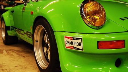 Gul 911 hadde jeg hallerede hatt, så da passet det med en grønn nå, sier Lasse.  (Foto: Benny Christensen)