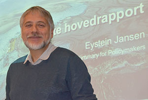Eystein Jansen er professor ved Universitetet i Bergen, og leder Bjerknessenteret for klimaforskning. (Foto: Ronald Toppe)