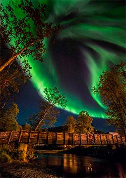 Nordlys i Tromsdalen midt i september. (Foto: Truls Melbye Tiller)
