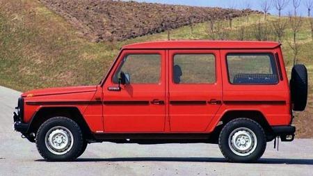 Mercedes Geländewagen.  Robust og enkel da den kom i 1979.