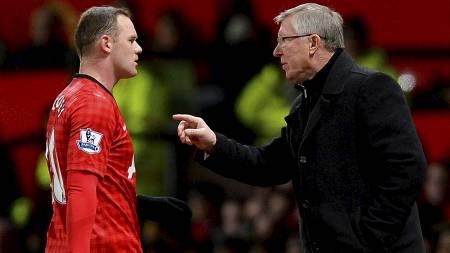 PÅ MIDTBANEN: Wayne Rooney ble brukt en del på midtbanen under Sir Alex Ferguson. Selv ville Rooney bekle rollen som spiss. (Foto: ANDREW YATES/Afp)