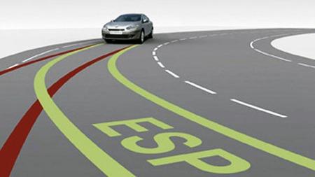 ESP-systemet hjelper til med å holde bilen på veien og er med det ekstra aktuelt med tanke på årstiden vi går inn i.  (Foto: Renault)