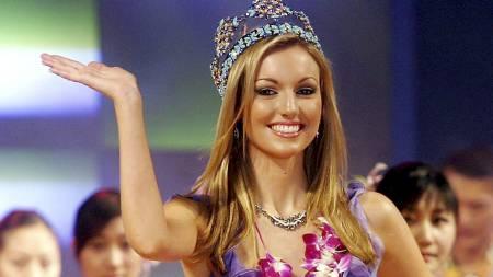 ANSATT AV LIVERPOOL: Tidligere Miss World Rosanna Davison er ansatt i LFC TV. (Foto: AFP/AFP)