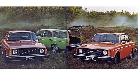 Originalt brosjyrebilde fra da Volvo 240 var helt ny.