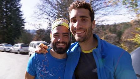 VENNER IGJEN NÅ: Simon og Martin Fourcade smiler igjen - sammen.
