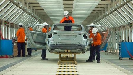 Her bygges det Volvo - i Kina. Dette er ventet å bli det viktigste markedet for Volvo i løpet av få år. (Foto: Volvo)