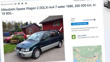 Den er 17 år gammel og har gått et godt stykke - likevel mener vi dette kan være et smart kjøp til 20.000 kroner.  (Foto: Faksimile fra www.finn.no)