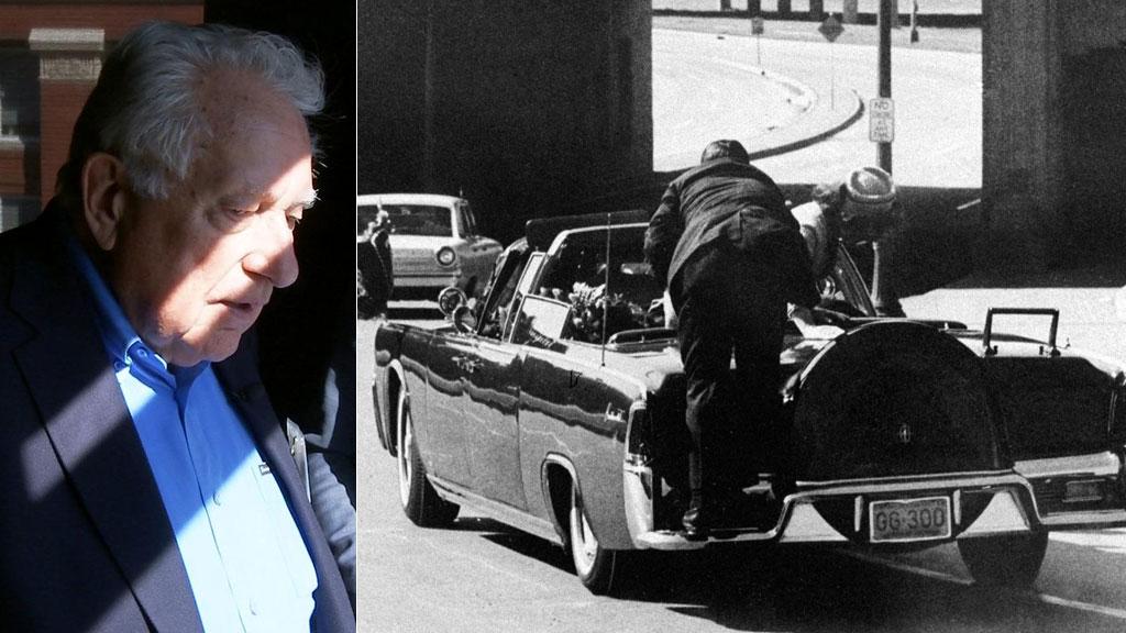50 ÅR ETTER: Norskættede Clint Hill husker fortsatt klart de få ordene Jackie Kennedy sa til ham sekunder etter at presidenten var skutt i Dallas. (Foto: Ditlev Eidsmo / TV 2 / AP)