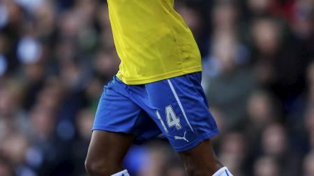 HET: Loïc Remy scoret sitt sjuende mål for sesongen da han ga Newcastle ledelsen mot Tottenham (Foto: EDDIE KEOGH/Reuters)
