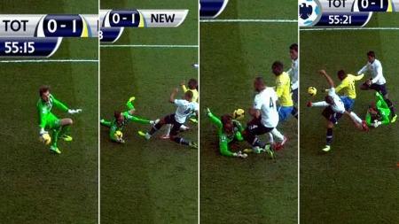 ENORM MULIGHET: Tottenham med tidenes sjanse til å utligne på White Hart Lane. (Foto: TV 2)