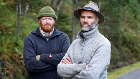 FARMEN-KOMPISER: Morten Heggdal og Hans Olav Hagen. (Foto: Alex Iversen/TV 2)