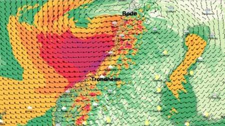 MET orkan (Foto: Meterologisk institutt)