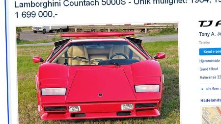 Her er den - i Norge! Prisforlandende er 1.699.000 kroner, men da slipper du også unna mye styr og usikkerhet rundt import av en bil som dette. Faksimile fra www.finn.no.