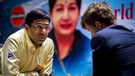 Anand og Carlsen (Foto: Aas, Erlend, ©ERL)