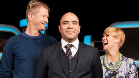 KLIPPKOMPANIET: Odd-Magnus Williamson, Johan Golden og Sigrid Bonde Tusvik leder TV 2s nye humorsatsning «Klippkompaniet».