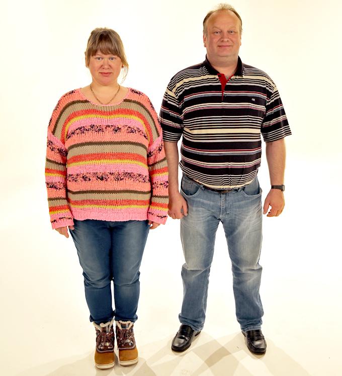 FØR: Overvekten hadde begynt å gå alvorlig utover helsa til Svetlana og Jon Inge Rekdal.