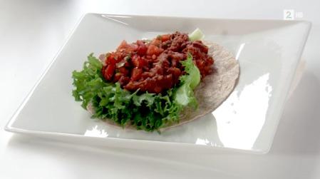 EN SUNNERE VARIANT: Taco med bønnestuing. (Foto: TV 2)