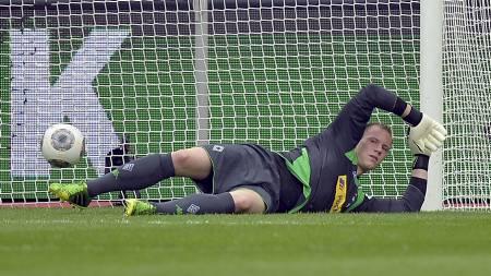 KEEPERTALENT: Marc-André ter Stegen er bare 21 år gammel, men har allerede landskamper for Tyskland. (Foto: Martin Meissner/Ap)