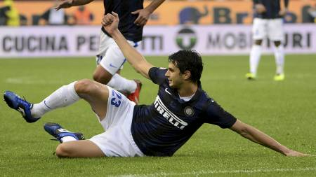 I FORM: Andrea Ranocchia har vært veldig god for Inter denne sesongen. (Foto: OLIVIER MORIN/Afp)