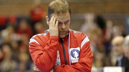 MYE Å TENKE PÅ? Thorir Hergeirsson grublet fælt under kampen, men fikk trolig de svarene han ønsket seg i generalprøven. (Foto: Åserud, Lise/NTB scanpix)
