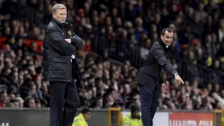 MOT GAMLEKLUBBEN: David Moyes møtte Everton for første gang siden sommerens skifte til ny sjefsstol. (Foto: Martin Rickett/Pa Photos)