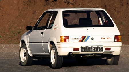 Tøff! Peugeot 205 Rallye. Dette er også en liten, lett og rask versjon over 205-temaet.