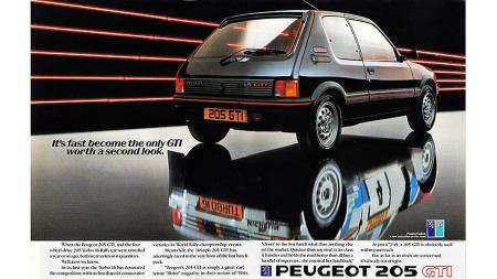 Selvfølgelig brukte Peugeot rally-suksessen for alt den var verdt i markedsføringen av 205 GTI