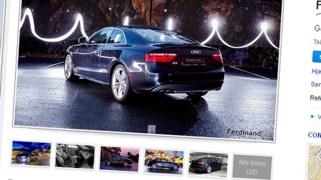 Audi S5 annonsen