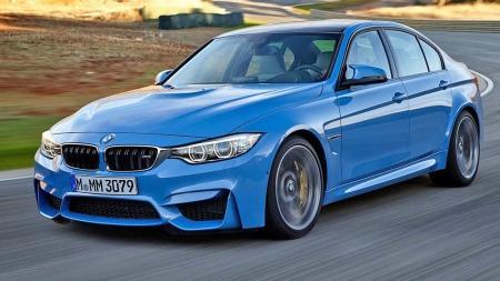 BMW M3 blå forfra
