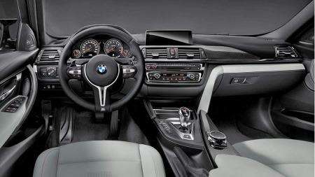 BMW M3 blå interiør