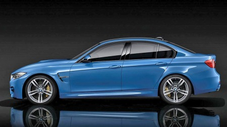 BMW M3 blå profilen