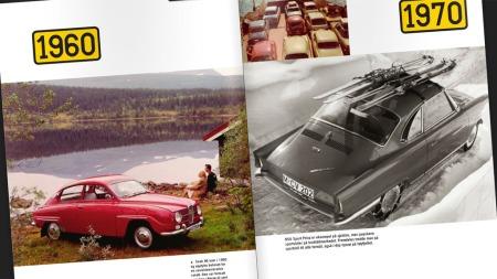 Boka fie deg som liker en Volvo Amazon med treski på taket eller en møkkete Opel Kadett  (Foto: Faksimile fra «Norske bilfavoritter» )
