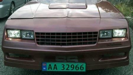 Den myke og avrundede fronten som SS-utgaven delte med coupé-modellen Monte Carlo SS forandret hele utseendet på bilen. (Foto: Privat)