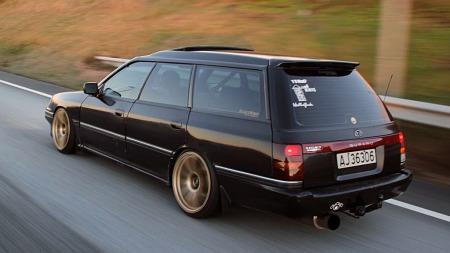 Riktig livat ble det ikke før man fikk en turbo på Legacyen sin. Gunnar har ordnet seg en slik til bruk på sommeren, dermed blir denne stasjonsvognen til en svært så velegnet vinterbil. (Foto: Privat)