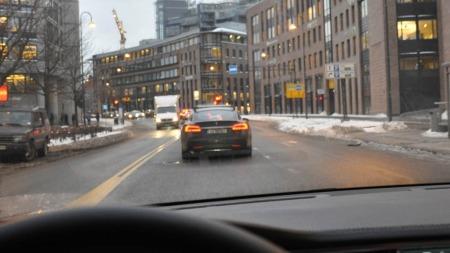 Oslo sentrum - endelig! Men røde lys var ikke som bestilt ...