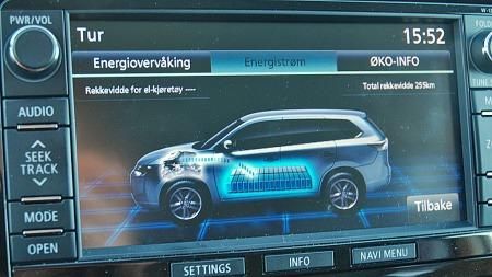 Her holder du oversikten på alt teknologien driver med - og det er ikke rent lite i denne bilen!