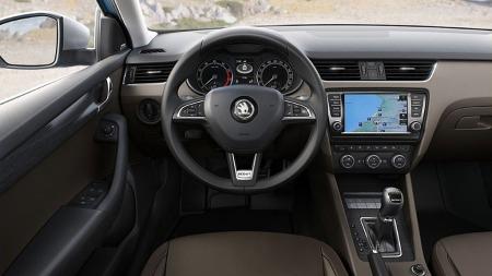 Interiører er velkjente saker fra VW-konsernet, denne utgaven har blant annet fått endel Scout-emblemer for å skille den fra