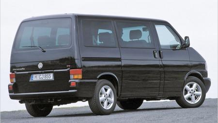 Her er en vanlig VW Caravelle - riktignok med V6-motor.