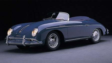 Kan det virkelig være en slik bil? Da snakker vi Scoop! Bildet viser en Porsche 356 Speester fra 1956.