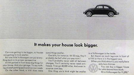 VW kjørte en del morsomme og kontroversielle reklamer. Mest kjent er kanskje denne.