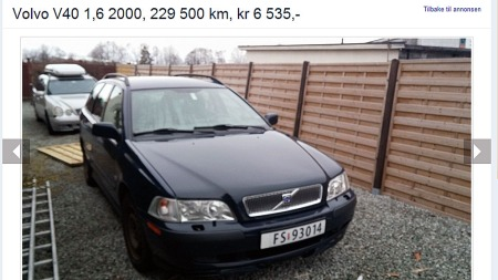 20.03 leveres Volvoen til