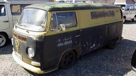 Are har flere VW-produkter også, som går i samme stil. Denne Transporteren er fra 1970. (Foto: Privat)