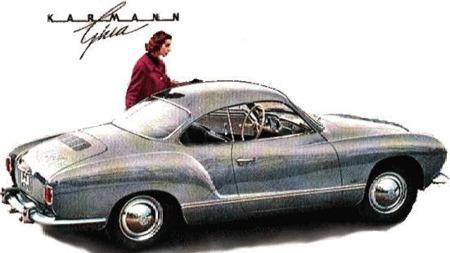 Karmann Ghia ble markedsført mer som en linjelekker og
