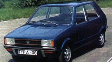 En tidlig prototype av VW Golf